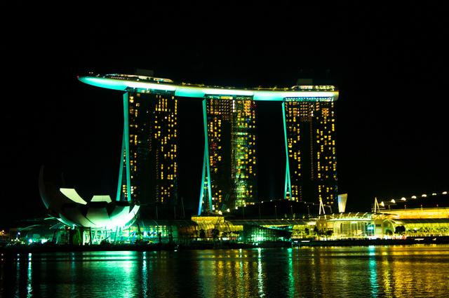 A Marina Bay Sands éjszaka
