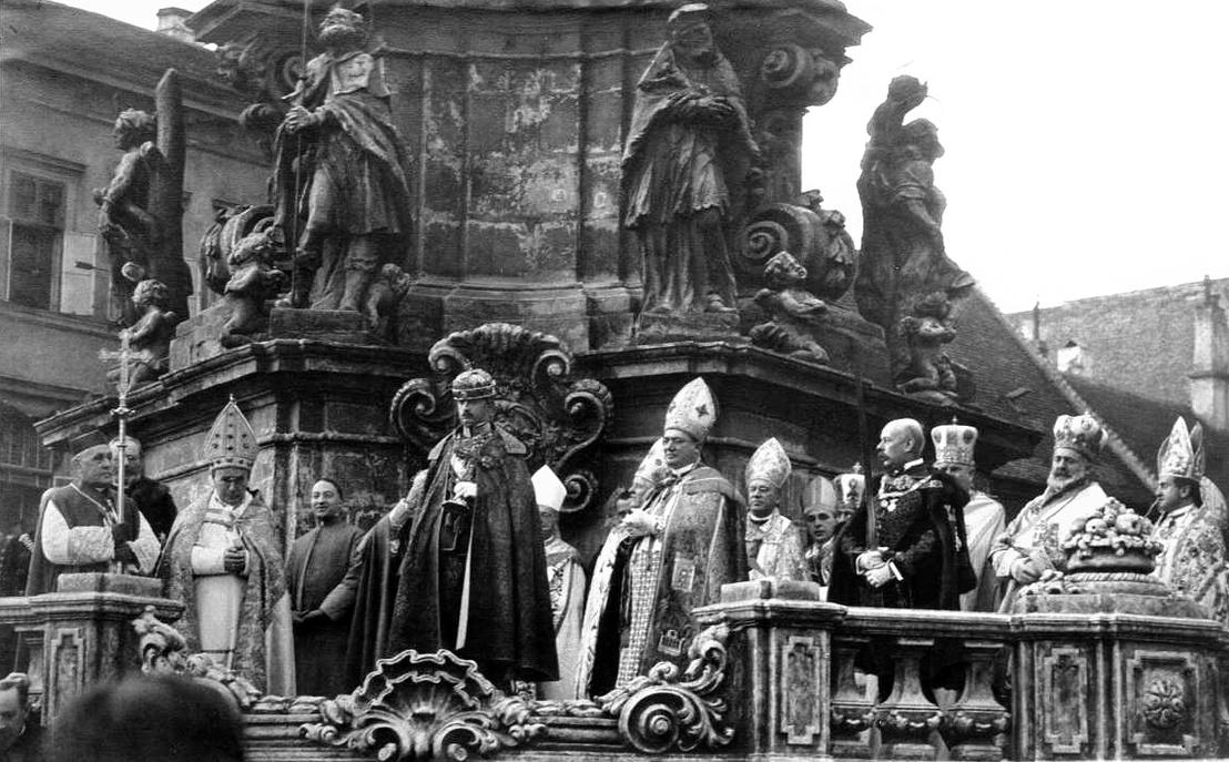 IV. Károly király eskütétele
