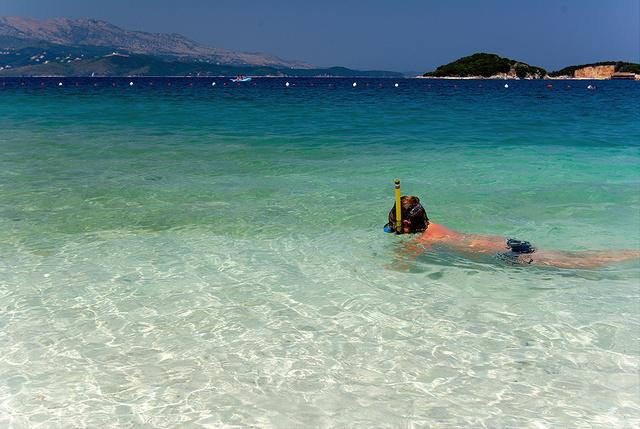 Snorkeling az albán partokon