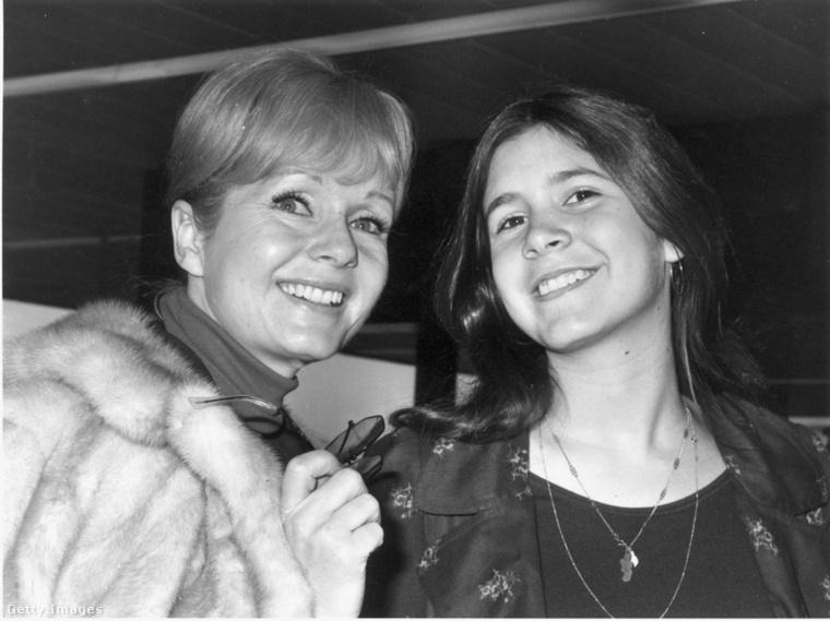 Debbie Reynolds és Carrie Fisher 1972-ben.