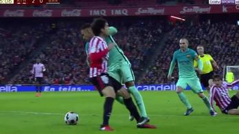 3 perc alatt 2 kapott gól, de nem ezért tomboltak Suárezék