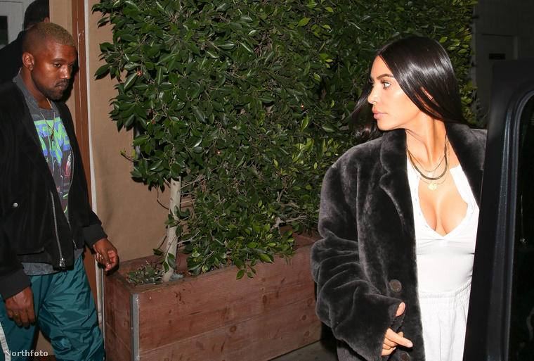 Kim Kardashian és Kanye West távozik az ominóus romantikus vacsoráról.