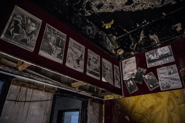 A bontás alatt álló mozi