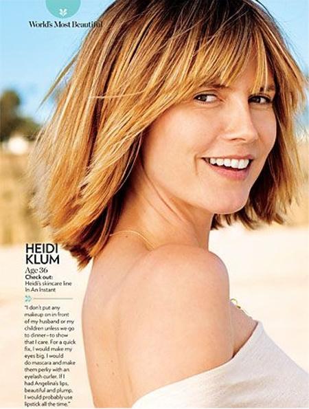 Heidi Klum smink nélkül pózolt a People-nek (Forrás: People)