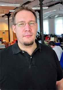 Stöckert Gábor, az Index újságírója természetes munkakörnyezetében