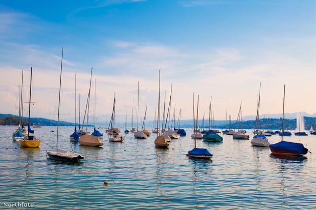 A Zürichi-tó vitorlásai