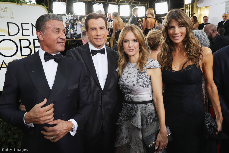 A régi Hollywood emlékére igazi oldschool sztárok is érkeztek, mint Sylvester Stallone, John Travolta, Kelly Preston és Jennifer Flavin.