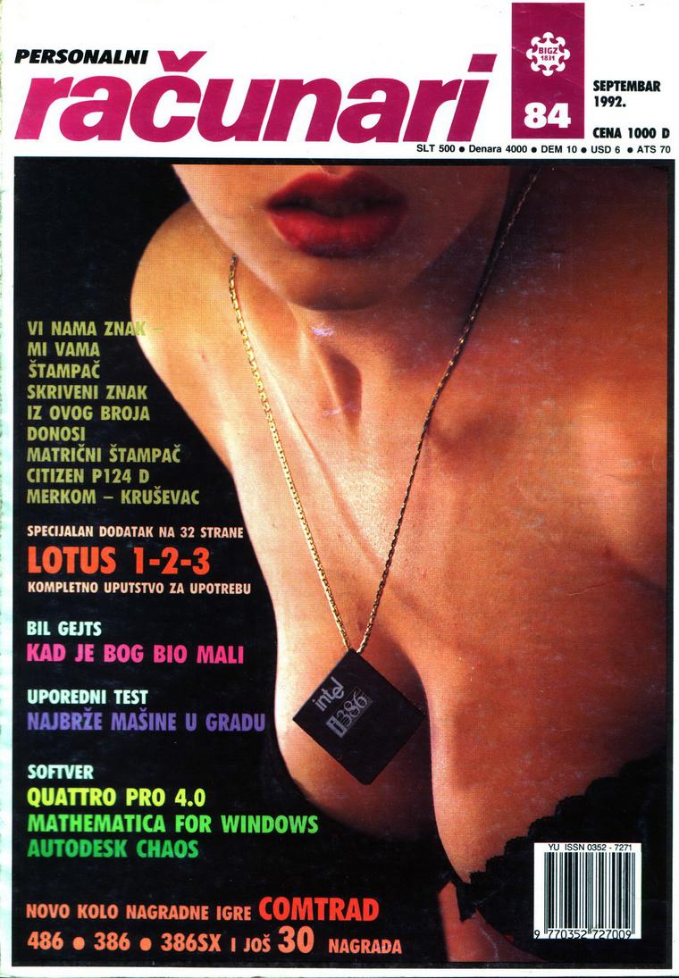 Intel 386 processzoros nyaklánc.