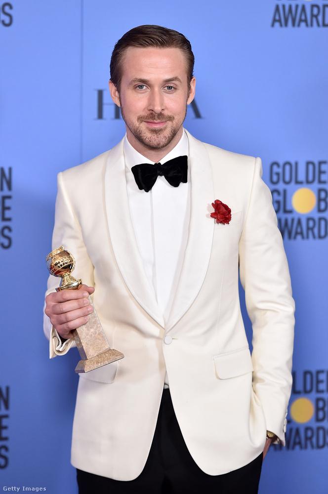 Ryan Gosling a legjobb színész lett musical és vígjáték kategóriában, díját Eva Mendes elhunyt testvére emlékének ajánlotta.