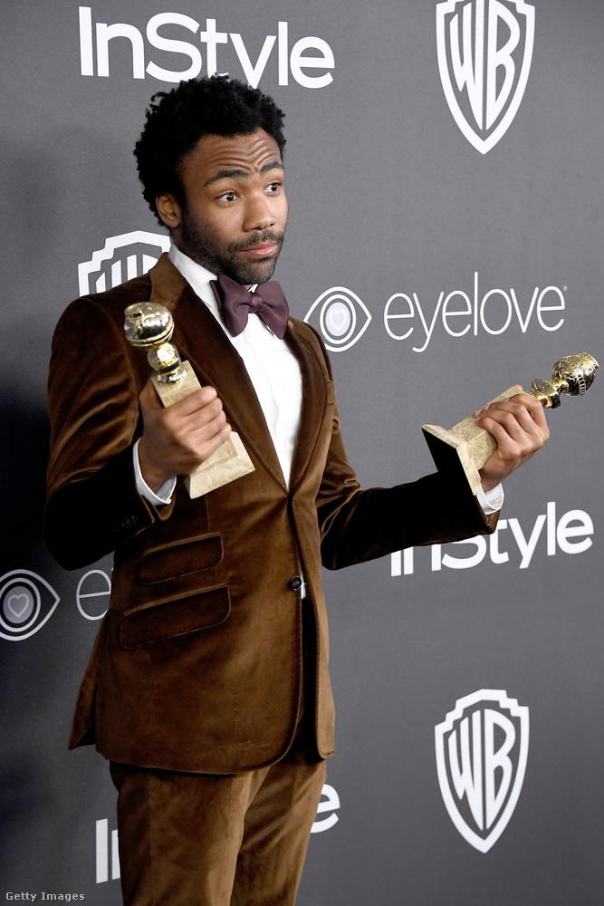 Glover ugyanis két díjat is nyert: az általa létrehozott Atlanta című sorozat lett a legjobb vígjátéksorozat, plusz az Atlantának ő is a főszereplője, és az alakításáért is kitüntették