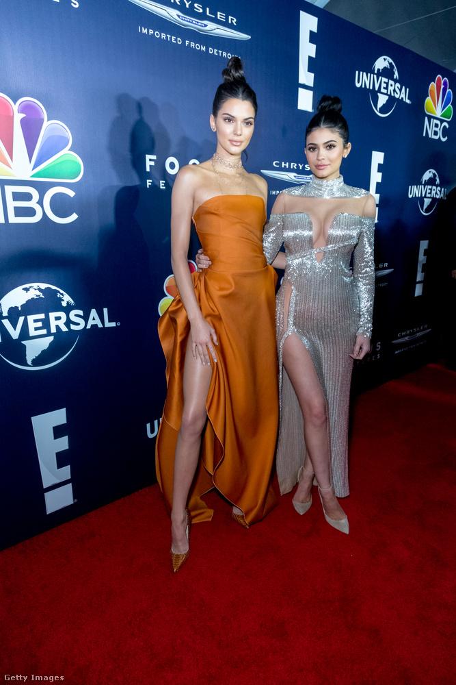 Kendall és Kylie Jenner az NBCUniversal afterpartiján