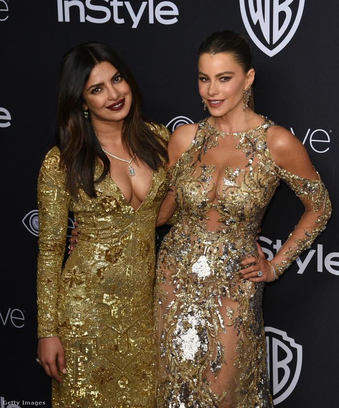 Mások nemcsak az afterpartikra tartogatták Aranyglóbuszaikat: Priyanka Chopra és Sofía Vergara először csak pózolgattak,
