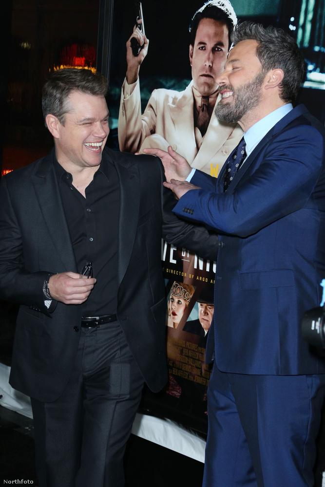 A két színész feltűnően jó kedvében volt.