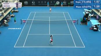 Ez volt a világ legfurcsább teniszmeccse