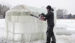 A hideg sem töri le a nyíregyháziak életkedvét: iglut építettek