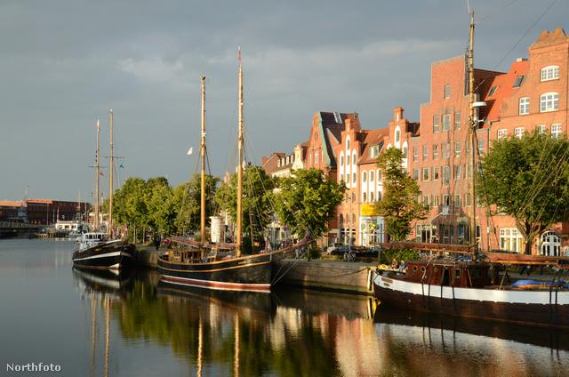 Lübeck jellegzetes északi hangulatú épületei