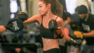 Gigi Hadid bokszedzése egyszerre volt szexi és kemény