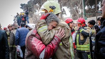 Mentés közben halt meg harminc tűzoltó Teheránban