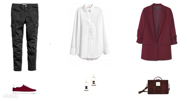 Nadrág - 8990 Ft (H&M) , ing - 9990 Ft (H&M) , blézer - 9995 Ft (Mango), cipő - 14995 Ft (Zara), fülbevaló - 7 euró (Promod), táska - 5995 Ft (Zara)