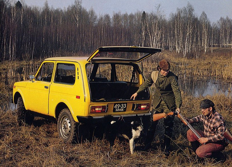 Ahogyan a fotó is mutatja: a vadászok kedvelt autója volt