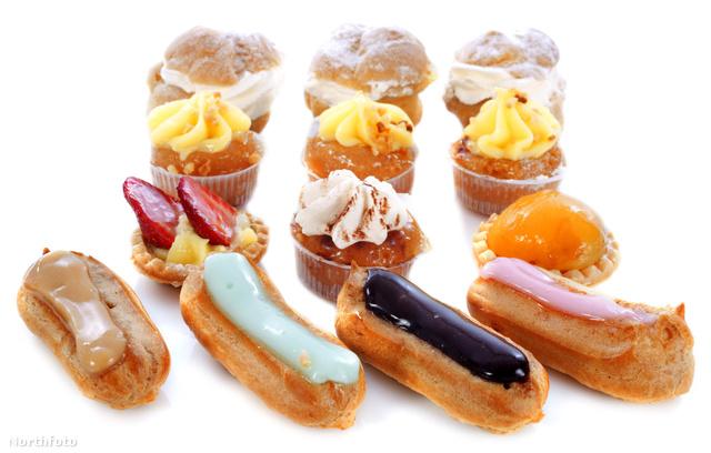 Francia sütihad, elöl az éclairek: valóban csillognak