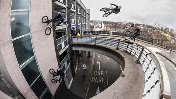 Még hogy függőleges falon nem lehet kerékpározni?