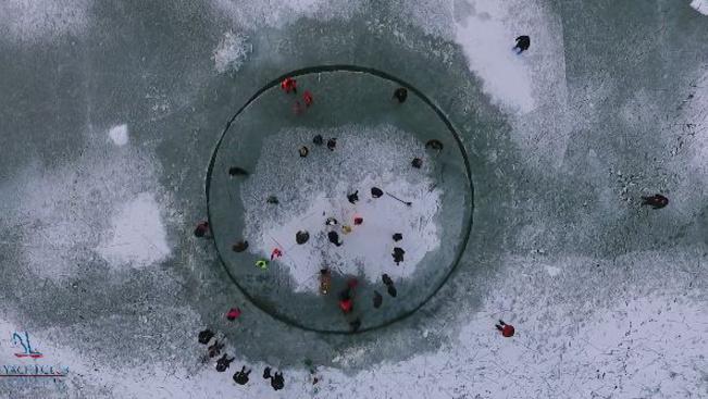 Szombattól újra forog a balatonlellei jég-körhinta