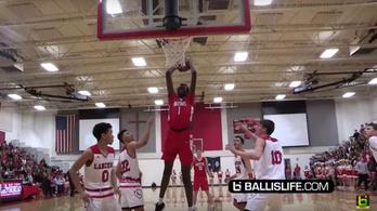 Az NBA-óriás fia 17 évesen verhetetlen a palánknál