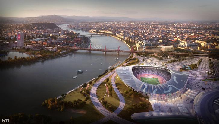 Az olimpiai park a Kvassay-zsilip térségében egy másik szögből.