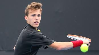 A 17 éves Piros Zsombor negyeddöntős az AusOpenen