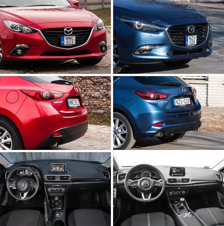 Ez még a 2016-os Mazda 3-orr egy korábbi tesztből