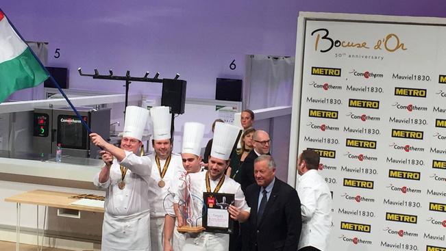 Széll Tamás csapata különdíjat nyert a Bocuse d'Or-on
