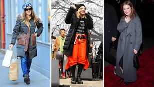 Ilyen kabátokban fáznak a celebnők