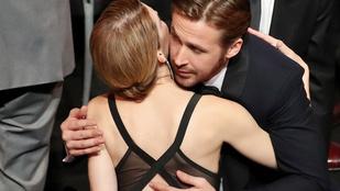 Ryan Gosling és két társa végigtapizta-puszilta az egész SAG-gálát
