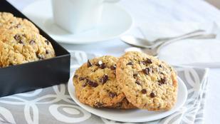 Pénteki süti: zabpelyhes chocolate chip cookies