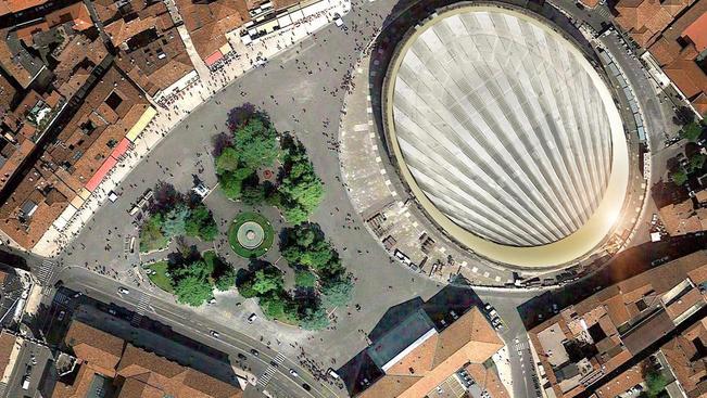 Legyezőszerű tetővel fedik be a veronai amfiteátrumot