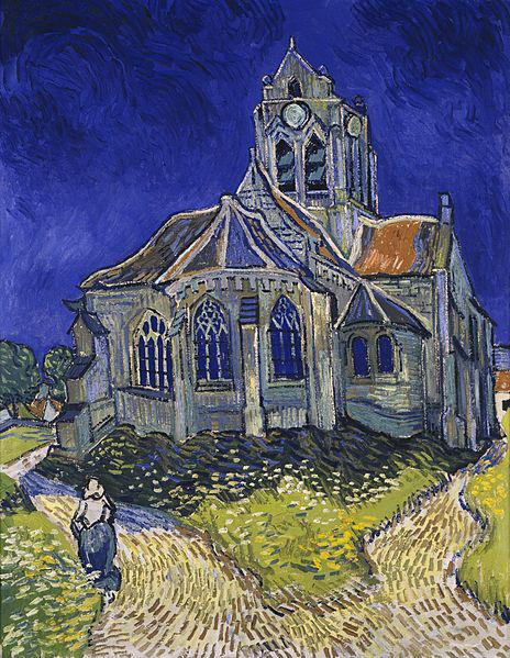 Vincent van Gogh: Templom Auvers-ben, 1890