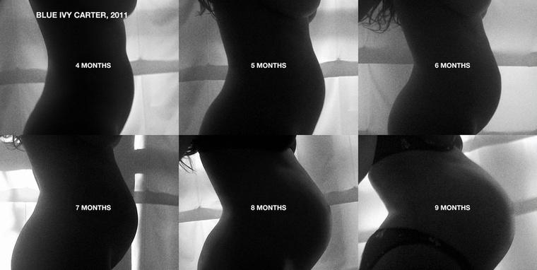 Ezek a fotók első terhességéről készültek, ekkor volt várandós Blue Ivy Carterrel, 2011-ben.