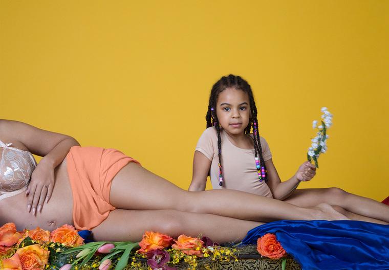 Első lányuk, Blue Ivy Carter.