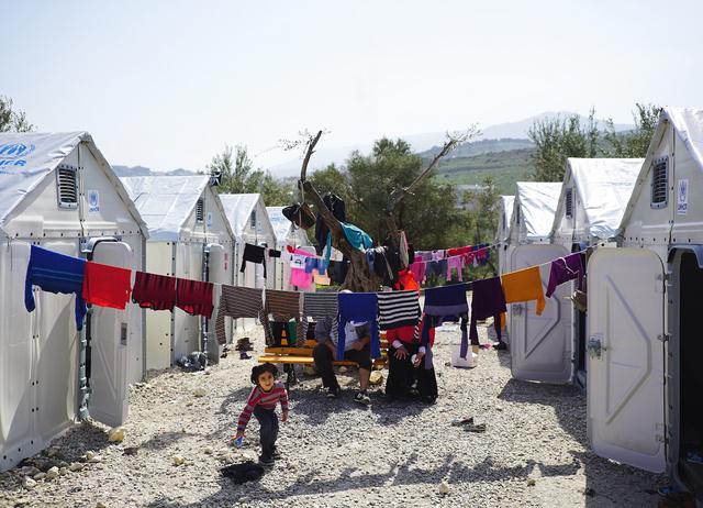 Így néz ki az Ikea menekültháza.