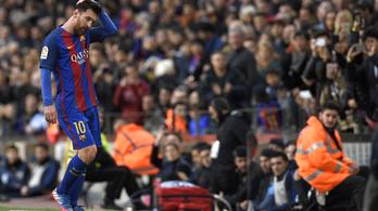 Három éve nem történt ilyen Messivel