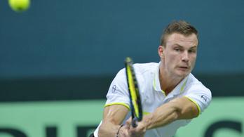 Óriásit lépett a magyar tenisz, Szlovákiát verték a Davis-kupában
