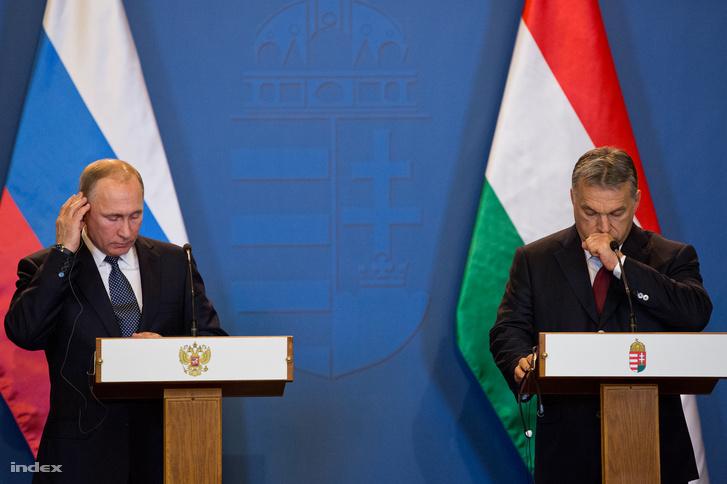 Vlagyimir Putyin és Orbán Viktor budapesti találkozója február 2-án