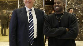 Már Kanye Westnek is ciki lett Trump