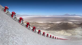 0-ról 167 km/h-ra 11 mp alatt, bringával