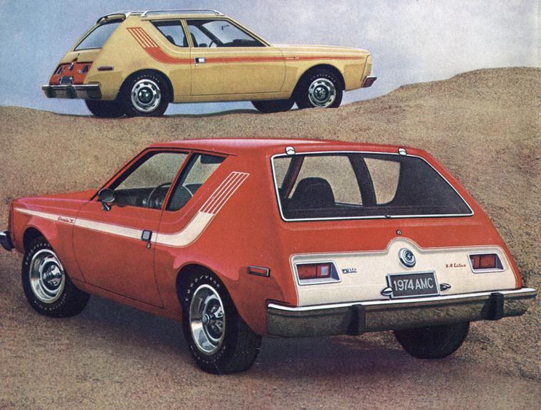 AMC Gremlin (1970-1978) - Mintha egy szeletelőgépnek esett volna áldozatul a fara, összességében pedig inkább illene a forma egy görkorcsolyához, mint autóhoz