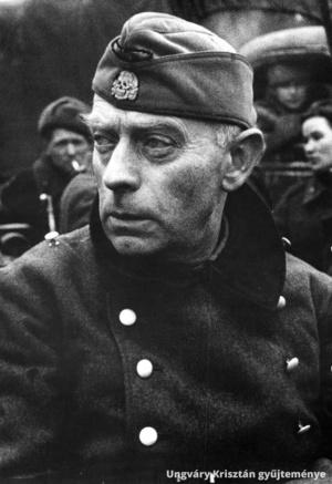 Pfeffer-Wildenbruch, a budapesti német csapatok főparancsnoka fogságba esése után, 1945. február 13-án.