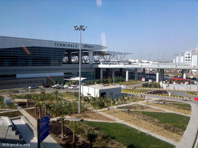 Az Indira Gandhi nemzetközi repülőtér Delhiben