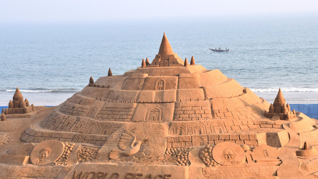 Új világrekord született homokvárépítésben Indiában