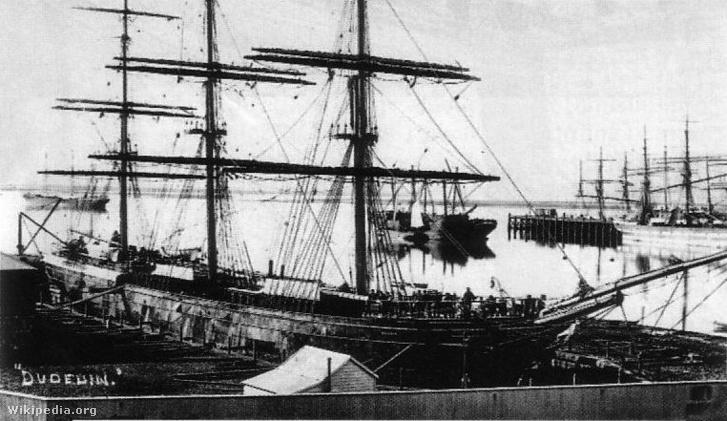 A Dunedin Port Chalmers kikötőjében